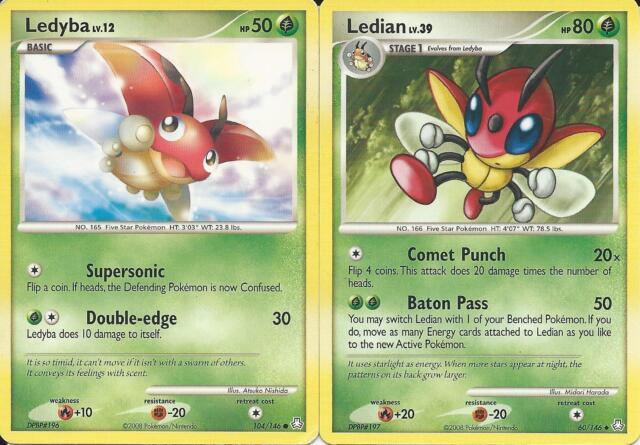 Pokemon Cards Ledian 60146 Ledyba 104146 Legends Awakened
