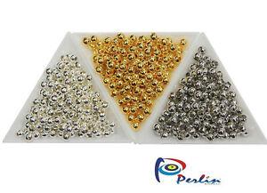 900-Metallperlen-Set-Spacer-Zwischenteile-Schmuckherstellung-4mm-Gold-Silber