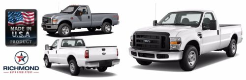 2008 2009 2010 Ford F450 F550 XL Work Truck Bottom Bench Seat Vinyl Cover Gray