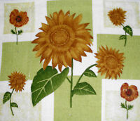 Set Of 2 ------ Kitchen Dish Towels W/ Crochet Tops - Sunflowers Listing T044