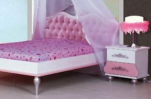 Letto bambina rosa una piazza e mezza francese principessa corona