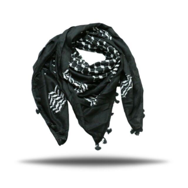 """Hirbawi Premium Arabic Scarf 100/% Cotton Shemagh Keffiyeh 47/""""x47/"""" Arab Scarf"""