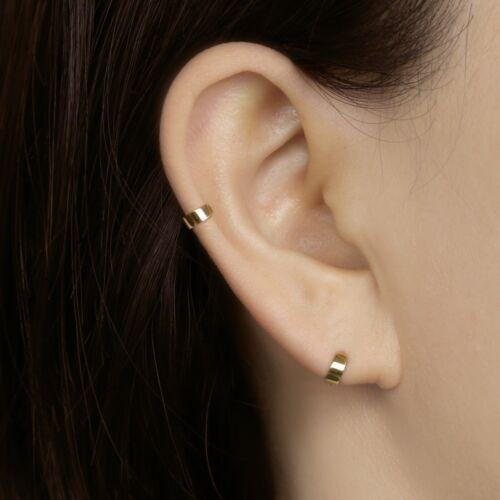 Dainty simple Hoop Earring 14k or Massif Tiny gras Hoop Earring Cartilage