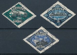 [56079] Lithuania 1923 lot 3 good Used Very Fine stamps