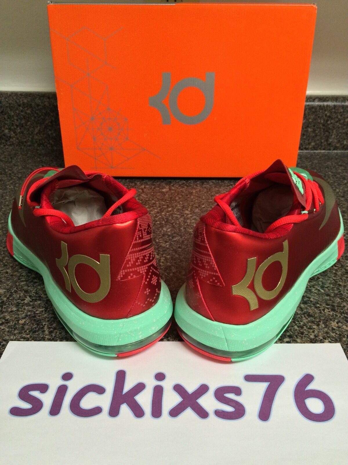DS Men's Nike KD VI 'Christmas' Sz 10 & 12/& 46 [599424 601] 6 X-MAS