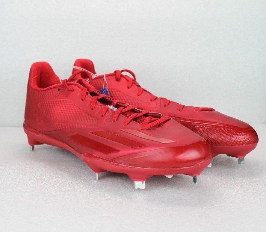 Adidas Adizero Baseball Cleats Size 11 Beautiful Red NEW NEW NEW SPG 753001 954ebe