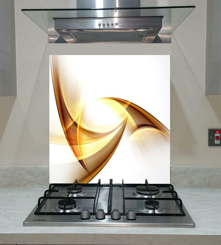 Splashback Toughened Glass Modern Unique Kitchen Fractal Abstract Any Größes