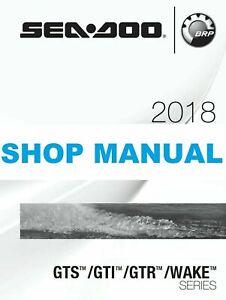 Details about Sea-Doo PWC 2018 GTS GTI GTR Wake 90 130 155 230 service  manual CD seadoo