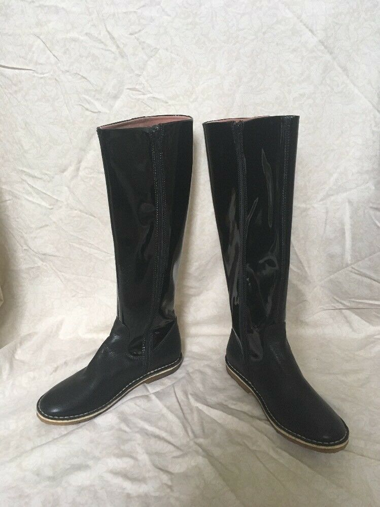 Kickers Patent Boot Damenschuhe Größe 7M