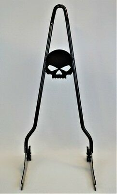 """Dyna Quick Release Skull Sissy Bar  fits most models 2006-2017 24/"""""""