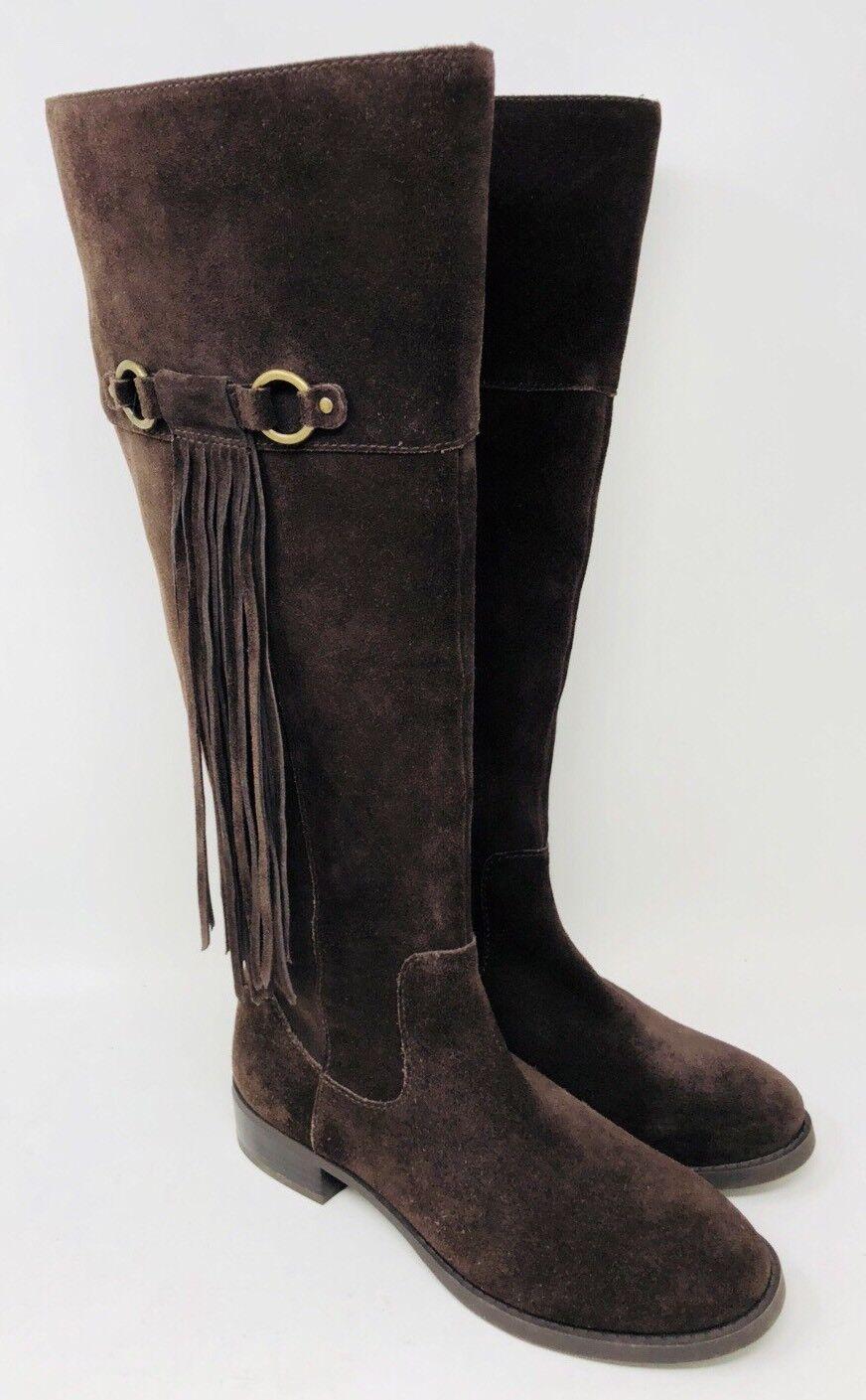 INC International Concepts Fayerbrn Tall Stiefel Wide Calf Braun Suede Größe 5.5