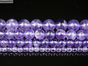 Grade-AAA-Natural-Lavender-Amethyst-Gemstone-Round-Beads-15-5-039-039-4mm-6mm-8mm-10mm
