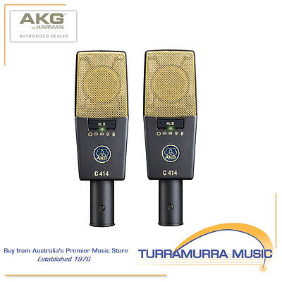 AKG C414 XLII ST stereo matched pair multi-pattern condenser microphones