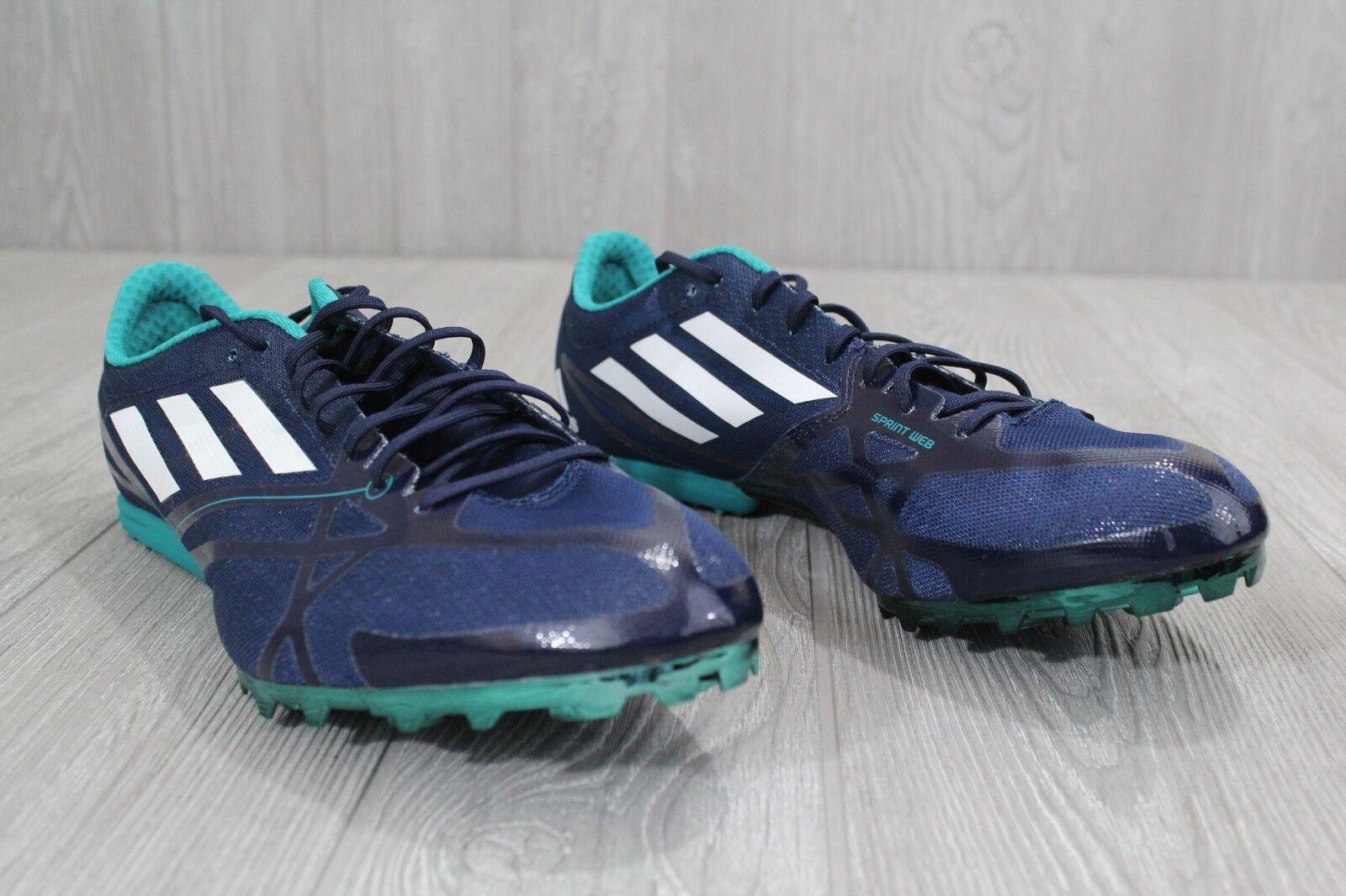 25 neue männer adidas md spikes 2 blau mitten track spikes md größen 5-aq3094 0c5157