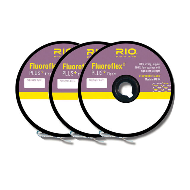 PLUS TIPPET 3-PACK IN SIZES 3X-4X-5X 30YD SPOOL OF EACH SIZE RIO FLUOROFLEX