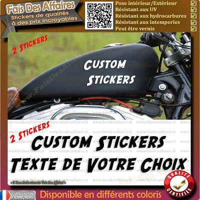 2 stickers autocollant custom moto réservoir motorcycles harley bobber chopper