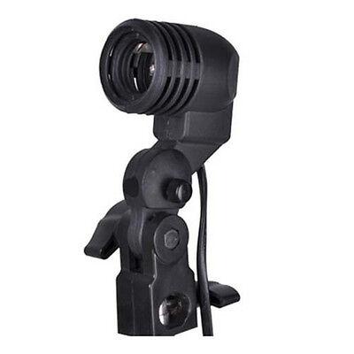 E27 flash strobe bulb umbrella holder socket studio photo light stand adapter