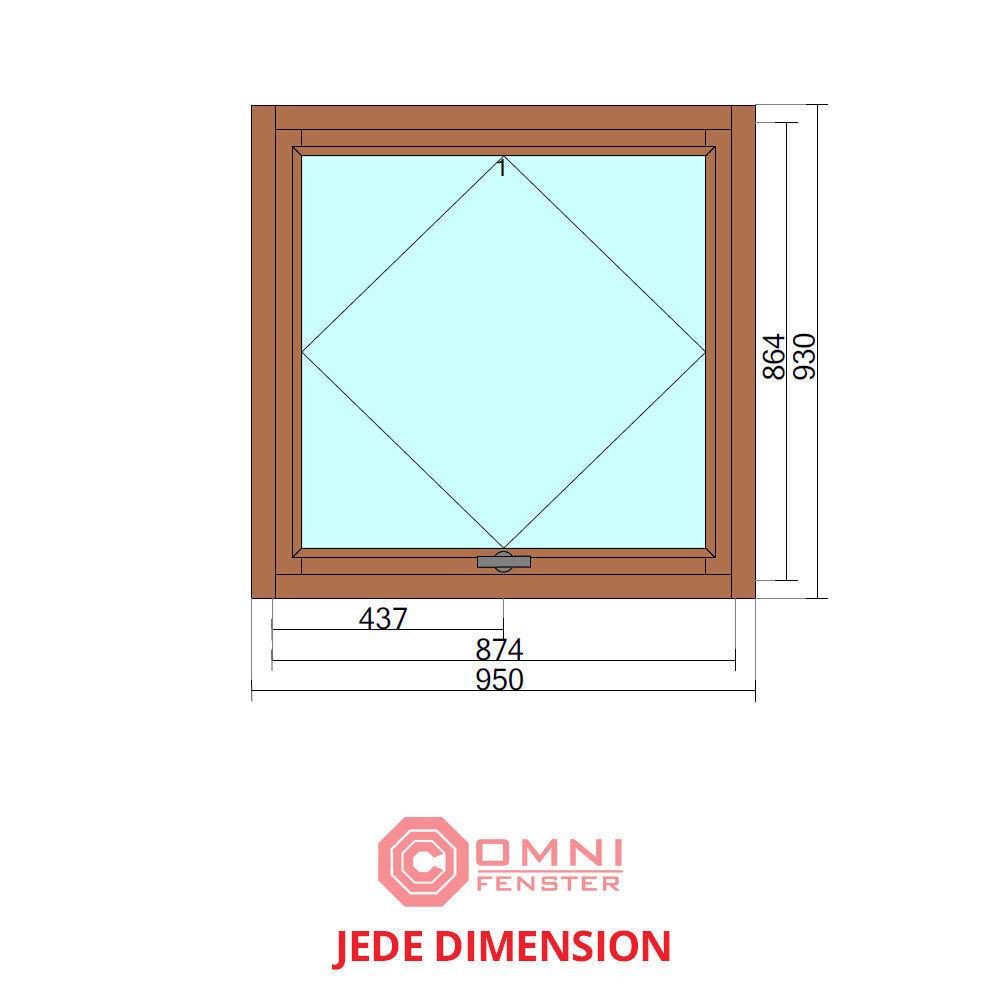 Holzfenster Fenster HOLZ Kiefer oder Meranti 95 x 93 cm TOP QUALITÄT/PREIS