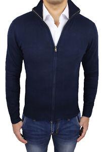 Felpa Scuro Cardigan S Invernale A Pullover Blu Uomo Xxxl Casual Maglione Da FS0qAq