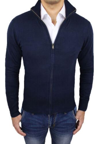 Scuro Uomo Casual Da Xxxl A Blu Felpa Invernale S Pullover Maglione Cardigan xT6nwwf4