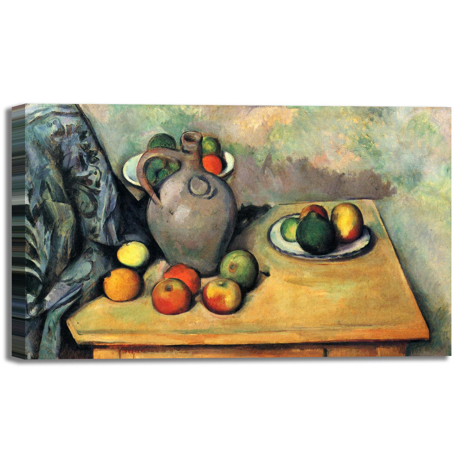 Cezanne natura morta 46 design quadro stampa tela dipinto con con dipinto telaio arRouge o casa 3da381