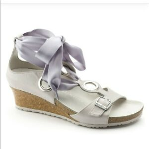 48bd20619a5 Image is loading NEW-Birkenstock-Papillio-Emmy-Wedge-Sandals-Gray-Women-