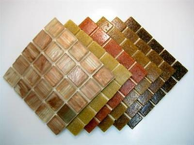 Warm Earth Browns 150 Mosaic Tiles Mix. Vitreous Tessera