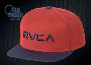 super popular 0f992 0fcea Image is loading New-RVCA-Twill-II-Mens-Stone-Red-Combo-