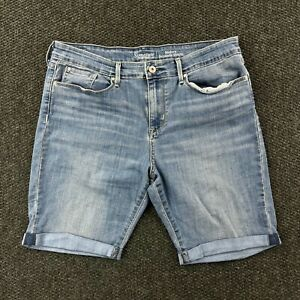 "Levi's Modern Bermuda Shorts Stretch Blue Denim Women's Sz 16 (35"" Waist)"