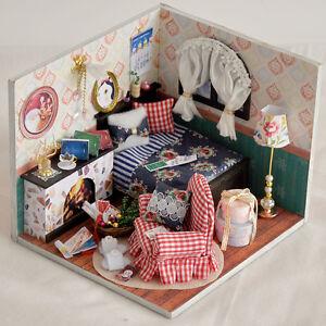 2016 New Dollhouse Miniature Room Box Kit W Lights Tw13