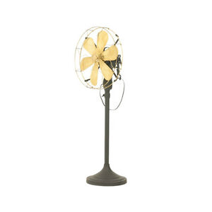 16-034-Blade-Electric-Floor-Stand-Fan-Oscillating-Vintage-Metal-Brass-Antique-style