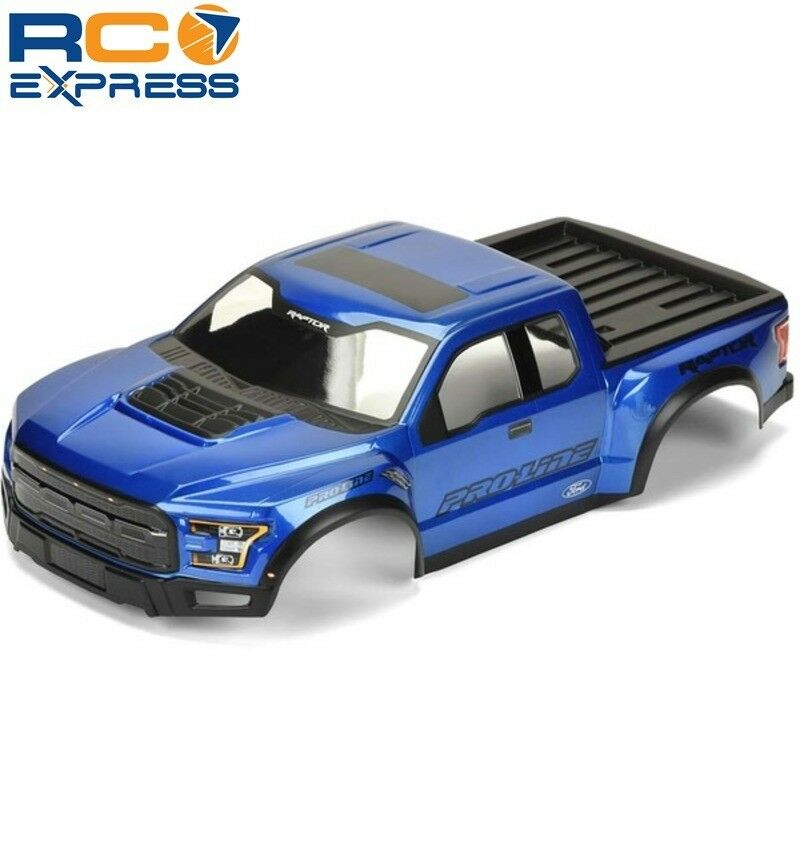 Pro-Line Pre-Painted Pre-Cut 17 Ford F-150 Raptor blu PRO346113