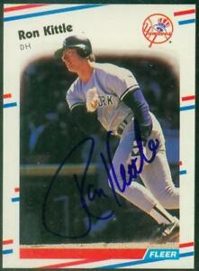 Original-Autograph-of-Ron-Kittle-of-the-NY-Yankees-on-a-1988-Fleer-Card