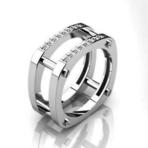 Fashion-Style-Mens-Ring-Cubic-Zirconia-Finger-Ring-Cocktail-Party-Ring-Size-6-10