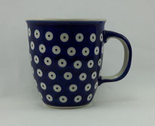 Punkte Bunzlauer Keramik Tasse MARS Dekor 70A K081 blau//weiß 0,3 Liter