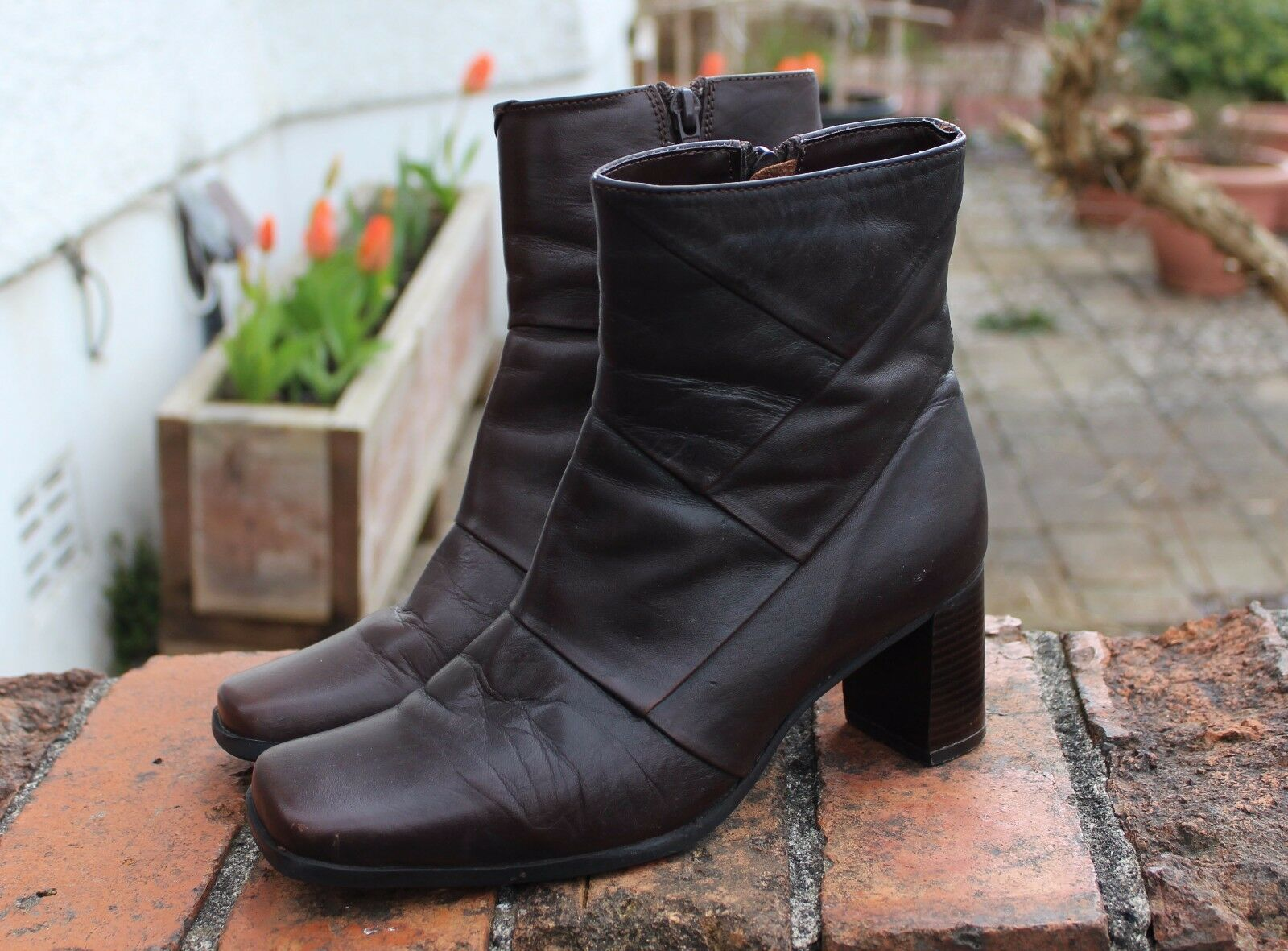 Women's Barratts Brown Ankle Boots 4 UK