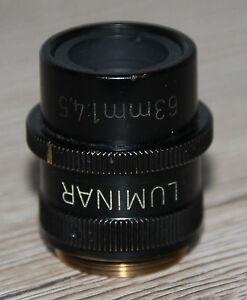 Zeiss-Mikroskop-Microscope-Objektiv-Luminar-63mm-1-4-5-mit-Blende