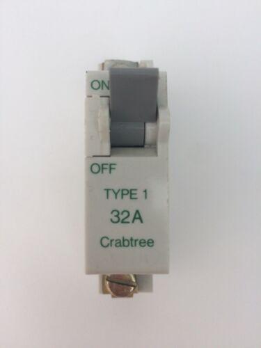 WYLEX NB30 32A TYPE 1 SP MCB CRABTREE SB6000 CIRCUIT BREAKER WYLEX NB32