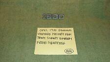 OPEL 1900 GENUINE VINTAGE FACTORY OEM SCRIPT EMBLEM FREE SHIPPING