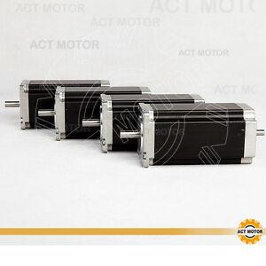 DE-Free-4PCS-Nema23-Schrittmotor-23HS2442B-4-2A-112mm-425oz-in-Dual-Shaft-1-8