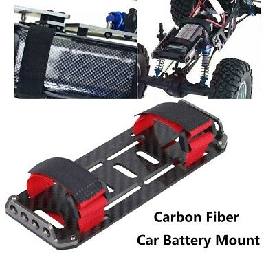 Carbon Fiber Battery Mounting Plate Tray For 1//10 Crawler RC Car Axial SCX-10