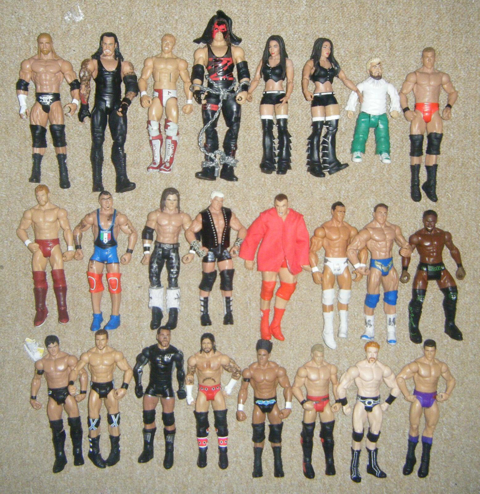 Wwe Mattel Base Serie Élite Azione Wrestling Figure Ringside Esclusivo Wwf Tna