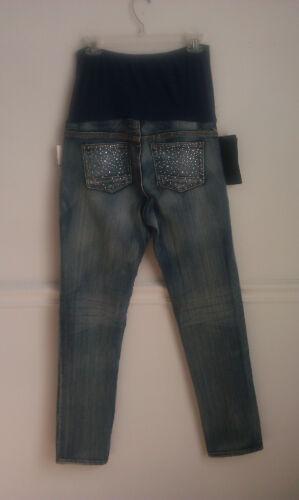 brivido donna piccole Jeans maternità per medie da tasche rinestones con e 6p4t1qw4