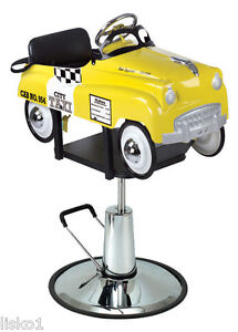 Image is loading Pibbs-1806-Taxi-Cab-Car-Styling-Barber-Chair-  sc 1 st  eBay & Pibbs 1806 Taxi Cab Car Styling Barber Chair for Kids | eBay
