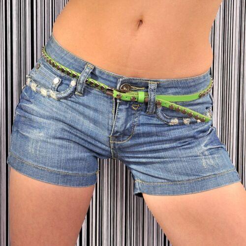 Jeansshorts  Short Shorts Hose kurz Jeans blau  Gr.38 Damen zu Stulpen D`Klic