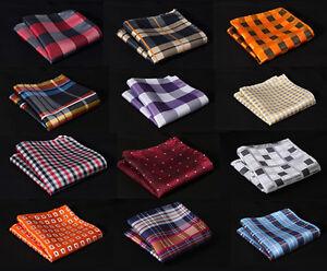 Check-Colors-Men-Silk-Satin-Handkerchief-Pocket-Square-Hanky-Wedding-Party