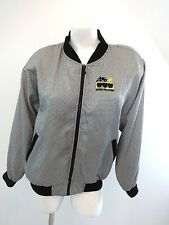 LAVON SPORT WOMENS SIZE M BLACK CHECKERED POLYESTER CASUAL JACKET