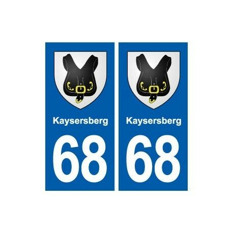 68 Kaysersberg blason autocollant plaque stickers ville droits