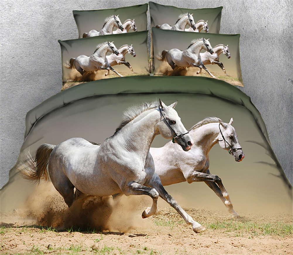 High Winds Horses 3D Printing Duvet Quilt Doona Covers Pillow Case Bedding Sets