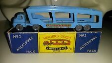 Matchbox Modellauto Major Pack No.M-2a Bedford Car Transporter 1958 mit Reprobox
